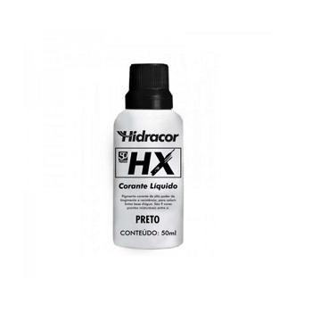 Corante Líquido HX Preto 50ml - Ref. 6030000013 - HIDRACOR.