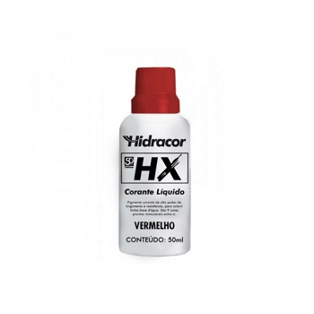 Corante Líquido HX Vermelho 50ml - Ref. 6030000008 - HIDRACOR.