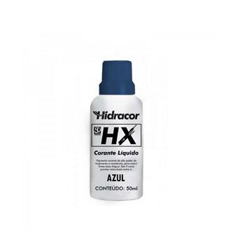 Corante Líquido HX Azul 50ml - Ref. 6030000010 - HIDRACOR.