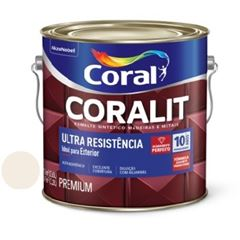 Tinta Esmalte Brilho 3,6 Litros Coralit Areia - Ref. 5202753 - CORAL