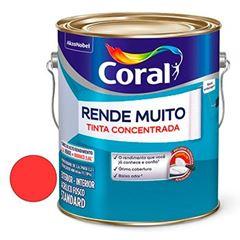 Tinta Acrílica Fosca Rende Muito Vermelho Cardinal 3,6 Litros - Ref. 5202173 - CORAL