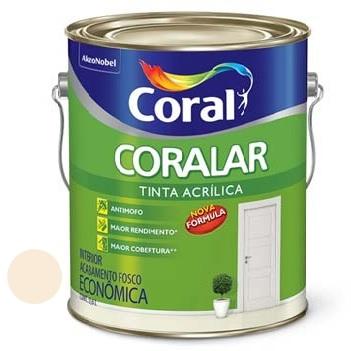 Tinta Acrílica Fosca Coralar Pérola 3,6 Litros - Ref. 5202282 - CORAL