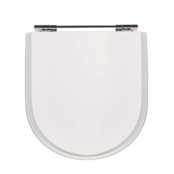 Assento em MDF Fixação Cromada Vogue Plus Branco - Ref.24-678 - SICMOL