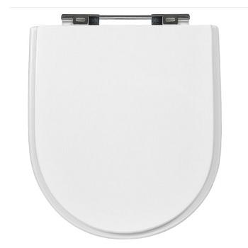 Assento em MDF Fixação Cromada Carrara Branco - Ref.17-606 - SICMOL