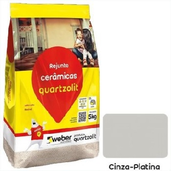 Rejunte Flexível Saco30kg Cinza Platina - Ref.0107.00020.0030FD - QUARTZOLIT