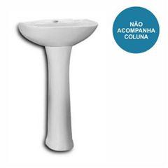Lavatório Coluna 47x38,5cm Saveiro/Up Cinza Prata - Ref. 1020070770300 - CELITE
