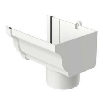 Bocal Circular Direito PVC 132x89mm Aquapluv Style Branco - Ref. 32029582 - TIGRE