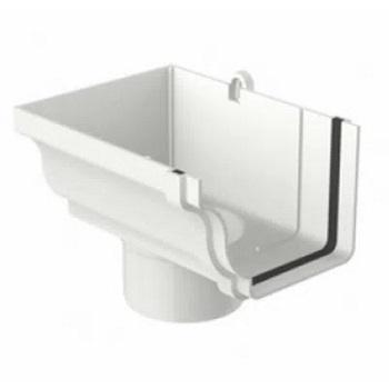 Bocal Circular Esquerdo PVC 132x89mm Aquapluv Style Branco - Ref. 32029647 - TIGRE