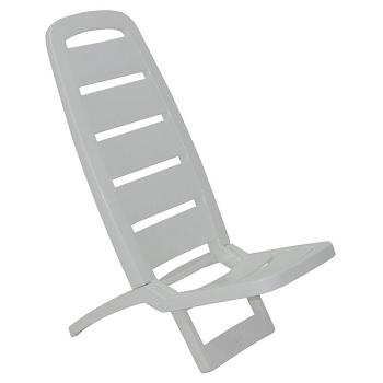 Cadeira de Praia Plástica Guarujá Branca - Ref.92051/010 - TRAMONTINA