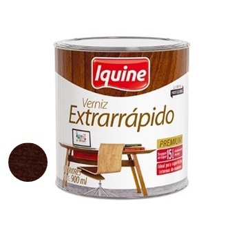 Verniz Brilhante Extrarrápido Nogueira 900ml - Ref.19105604 - IQUINE