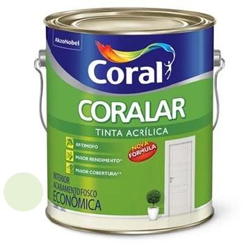 Tinta Acrílica Fosca Coralar Verde Vale 3,6 Litros - Ref. 5202322 - CORAL