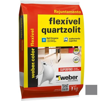 Rejunte Flexível Saco30kg Cinza Ártico - Ref.0107.00018.0030FD - QUARTZOLIT