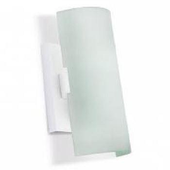 Arandela de Aço 60w 20cm Vidro Bambu E27 Branco - Ref.PL200ABB - BRONZEARTE
