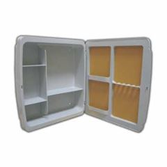 Armário Para Banheiro Polipropileno 37x34x10 Embutir/Sobrepor Cinza Claro - Ref. 2651 - HERC