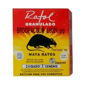Raticida 75g Ratol Granulado - Ref. 203 - CHEMONE