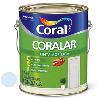 Tinta Acrílica Fosca Coralar Azul Praia 3,6 Litros - Ref. 5202284 - CORAL