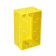 Caixa Luz Plástica 4x2 Tigreflex Amarela - Ref.33043554 - TIGRE