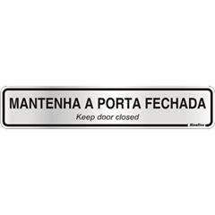 Placa De Alumínio 05x25cm Porta Fechada - Ref. 100CL - SINALIZE