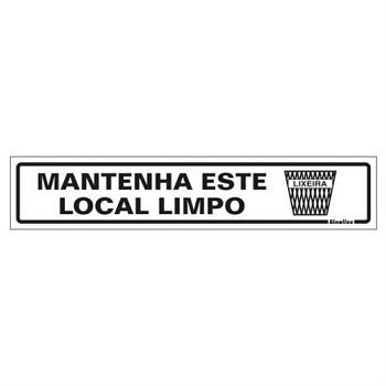 PLACA PVC 05X25CM LOCAL LIMPO SINALIZE