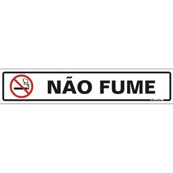 PLACA PVC 05X25CM NAO FUME SINALIZE . .