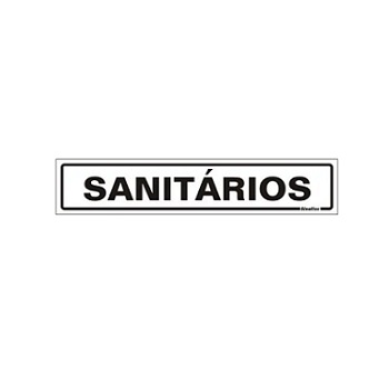 PLACA PVC 05X25CM SANITARIOS SINALIZE