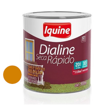 Esmalte Brilhante Dialine Secagem Rápida Premium Amarelo Cartepillar 900ml - Ref.62205804 - IQUINE
