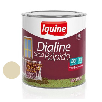 Esmalte Brilhante Dialine Secagem Rápida Premium Areia 900ml - Ref.62201504 - IQUINE