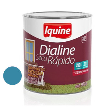 Esmalte Brilhante Dialine Secagem Rápida Premium Azul Mar 900ml - Ref.62206104- IQUINE