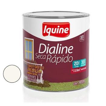 Esmalte Brilhante Dialine Secagem Rápida Premium Branco Neve 900ml - Ref.62200204 - IQUINE