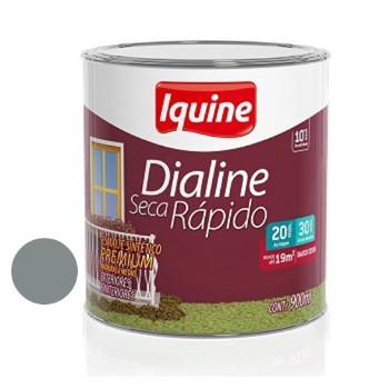 Esmalte Brilhante Dialine Secagem Rápida Premium Cinza Médio 900ml - Ref.62200704 - IQUINE