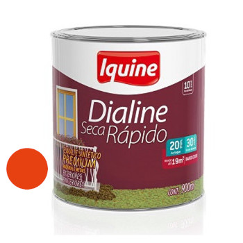 Esmalte Brilhante Dialine Secagem Rápida Premium Laranja 900ml - Ref.62204404 - IQUINE