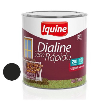 Esmalte Brilhante Dialine Secagem Rápida Premium Preto 900ml - Ref.62205704 - IQUINE