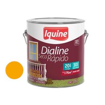 Esmalte Brilhante Dialine Secagem Rápida Premium Amarelo 3,6 Litros - Ref.62206501 - IQUINE
