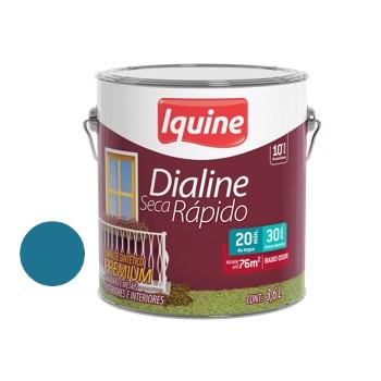 Esmalte Brilhante Dialine Secagem Rápida Premium Azul Céu 3,6 Litros - Ref.62206601- IQUINE