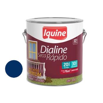 Esmalte Brilhante Dialine Secagem Rápida Premium Azul Del Rey 3,6 Litros - Ref.62204801- IQUINE