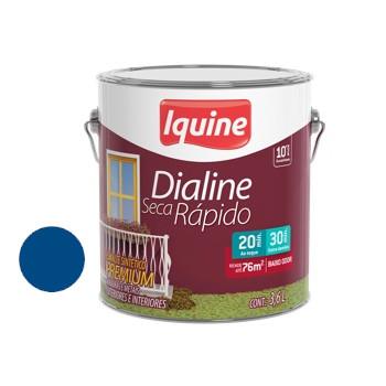 Esmalte Brilhante Dialine Secagem Rápida Premium Azul França 3,6 Litros - Ref.62204901 - IQUINE