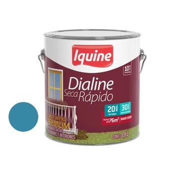 Esmalte Brilhante Dialine Secagem Rápida Premium Azul Mar 3,6 Litros - Ref.62206101 - IQUINE