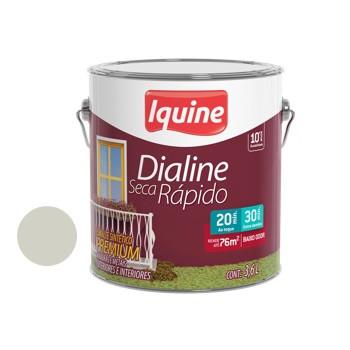 Esmalte Brilhante Dialine Secagem Rápida Premium Branco Gelo 3,6 Litros - Ref.62200301 - IQUINE