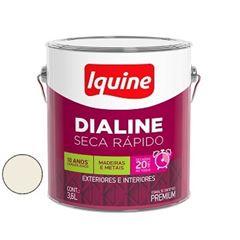 Tinta Esmalte Brilhante Dialine Secagem Rápida Premium Branco Gelo 3,6 Litros - Ref.62200301 - IQUINE