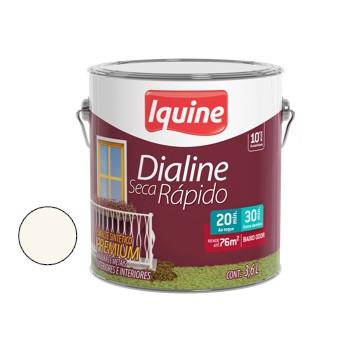 Esmalte Brilhante Dialine Secagem Rápida Premium Branco Neve 3,6 Litros - Ref.62200201- IQUINE