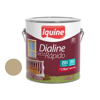 Esmalte Brilhante Dialine Secagem Rápida Premium Camurça 3,6 Litros - Ref.62201601 - IQUINE