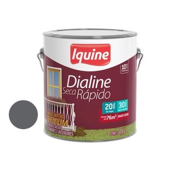 Esmalte Brilhante Dialine Secagem Rápida Premium Cinza Escuro 3,6 Litros - Ref.62200801 - IQUINE
