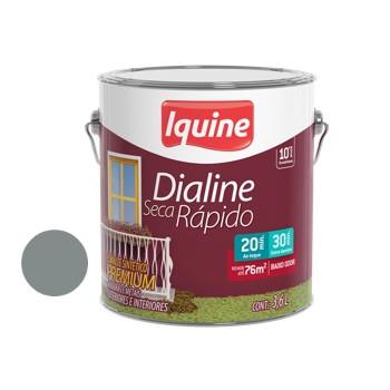 Esmalte Brilhante Dialine Secagem Rápida Premium Cinza Médio 3,6 Litros - Ref.62200701 - IQUINE