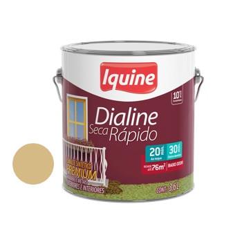 Esmalte Brilhante Dialine Secagem Rápida Premium Creme 3,6 Litros - Ref.62202101 - IQUINE