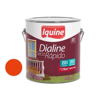 Esmalte Brilhante Dialine Secagem Rápida Premium Laranja 3,6 Litros - Ref.62204401 - IQUINE