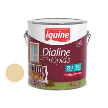 Esmalte Brilhante Dialine Secagem Rápida Premium Marfim 3,6 Litros - Ref.62202001 - IQUINE