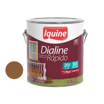 Esmalte Brilhante Dialine Secagem Rápida Premium Marrom Conhaque 3,6 Litros - Ref.62202701 - IQUINE