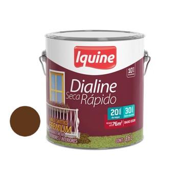 Esmalte Brilhante Dialine Secagem Rápida Premium Tabaco 3,6 Litros - Ref.62202901 - IQUINE