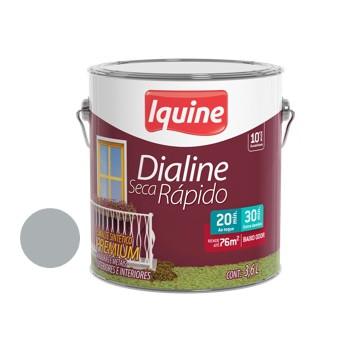 Esmalte Brilhante Dialine Secagem Rápida Premium Platina 3,6 Litros - Ref.62200601 - IQUINE