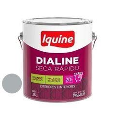 Tinta Esmalte Brilhante Dialine Secagem Rápida Premium Platina 3,6 Litros - Ref.62200601 - IQUINE